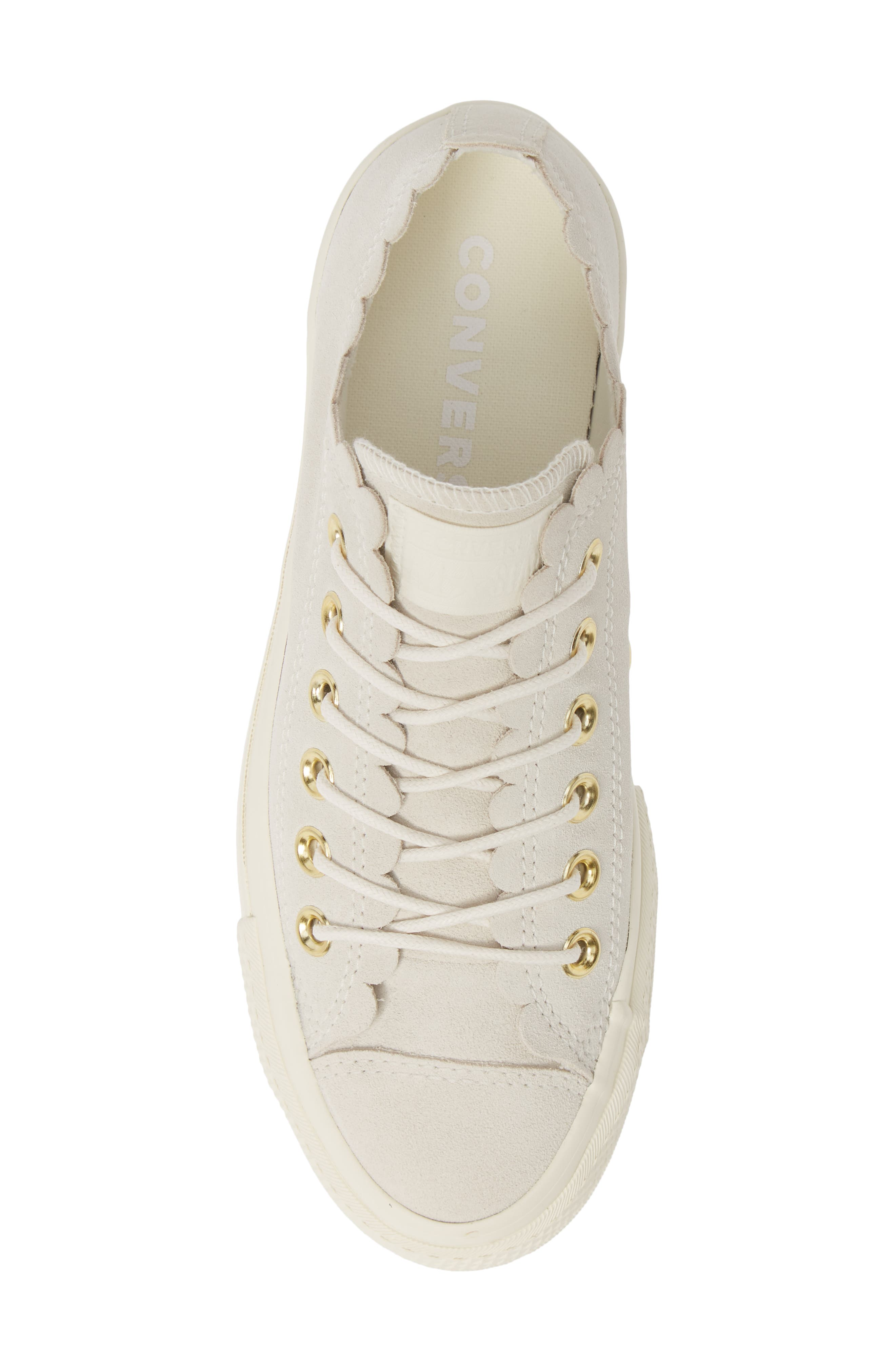 ,                             Chuck Taylor<sup>®</sup> All Star<sup>®</sup> Frilly Scallop Platform Sneaker,                             Alternate thumbnail 5, color,                             020