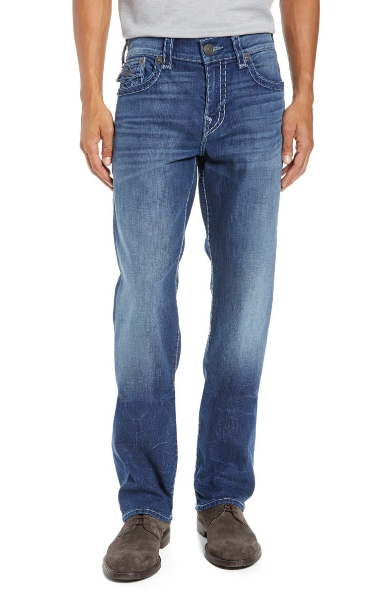 TRUE RELIGION BRAND JEANS Ricky Relaxed Fit Jeans, Main, color, HIGH FREQUENCY