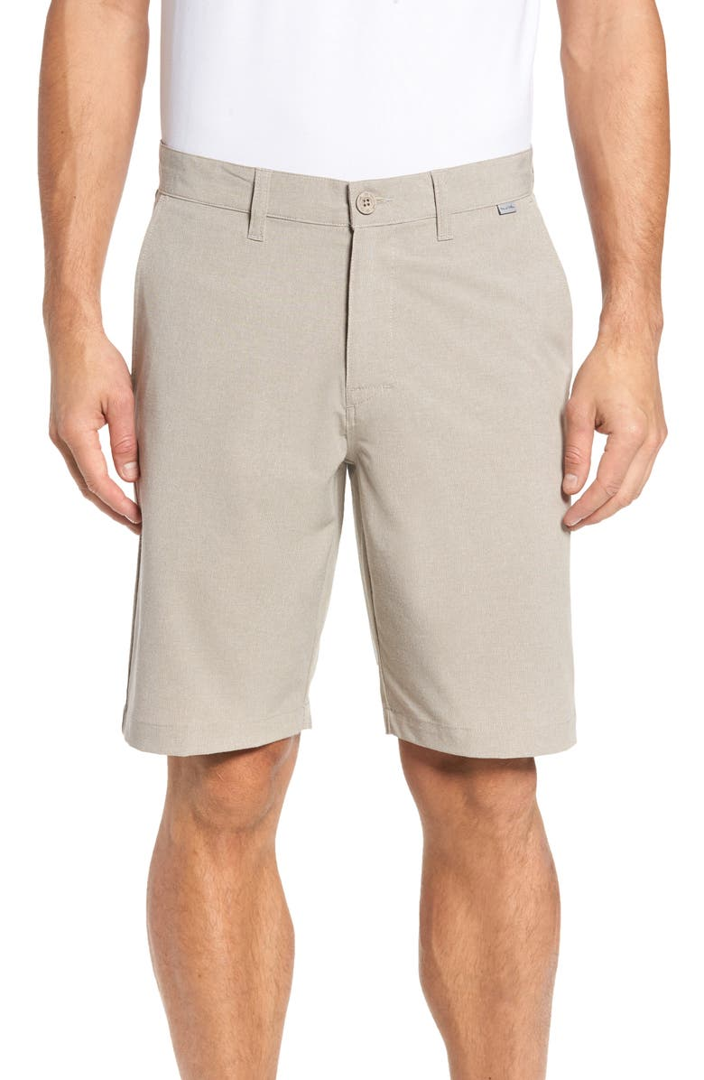 TRAVISMATHEW Beck Stretch Performance Shorts, Main, color, KHAKI
