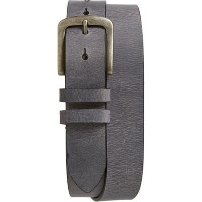 Torino Belts Waxed Leather Belt, Charcoal