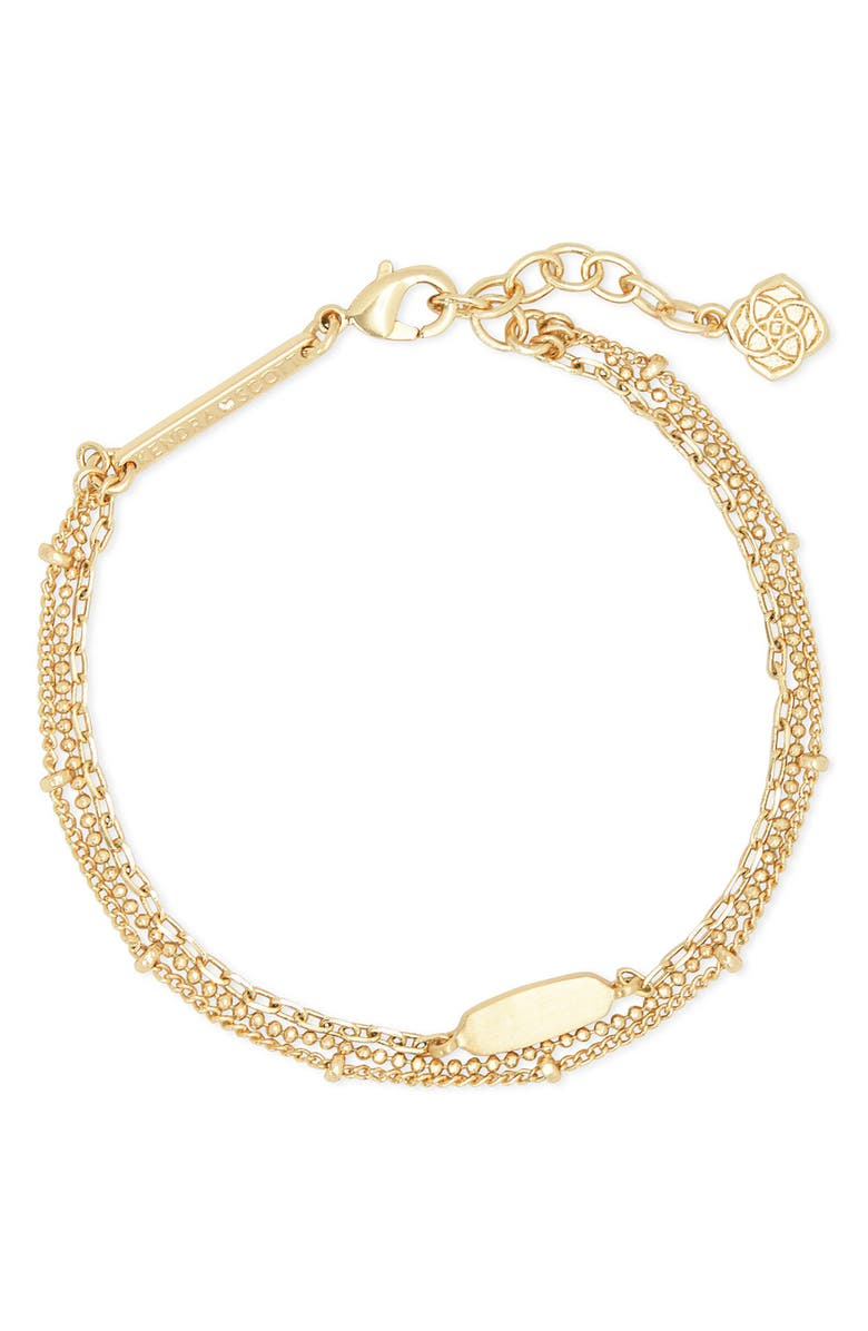 KENDRA SCOTT Fern Multi-Strand Bracelet, Main, color, GOLD