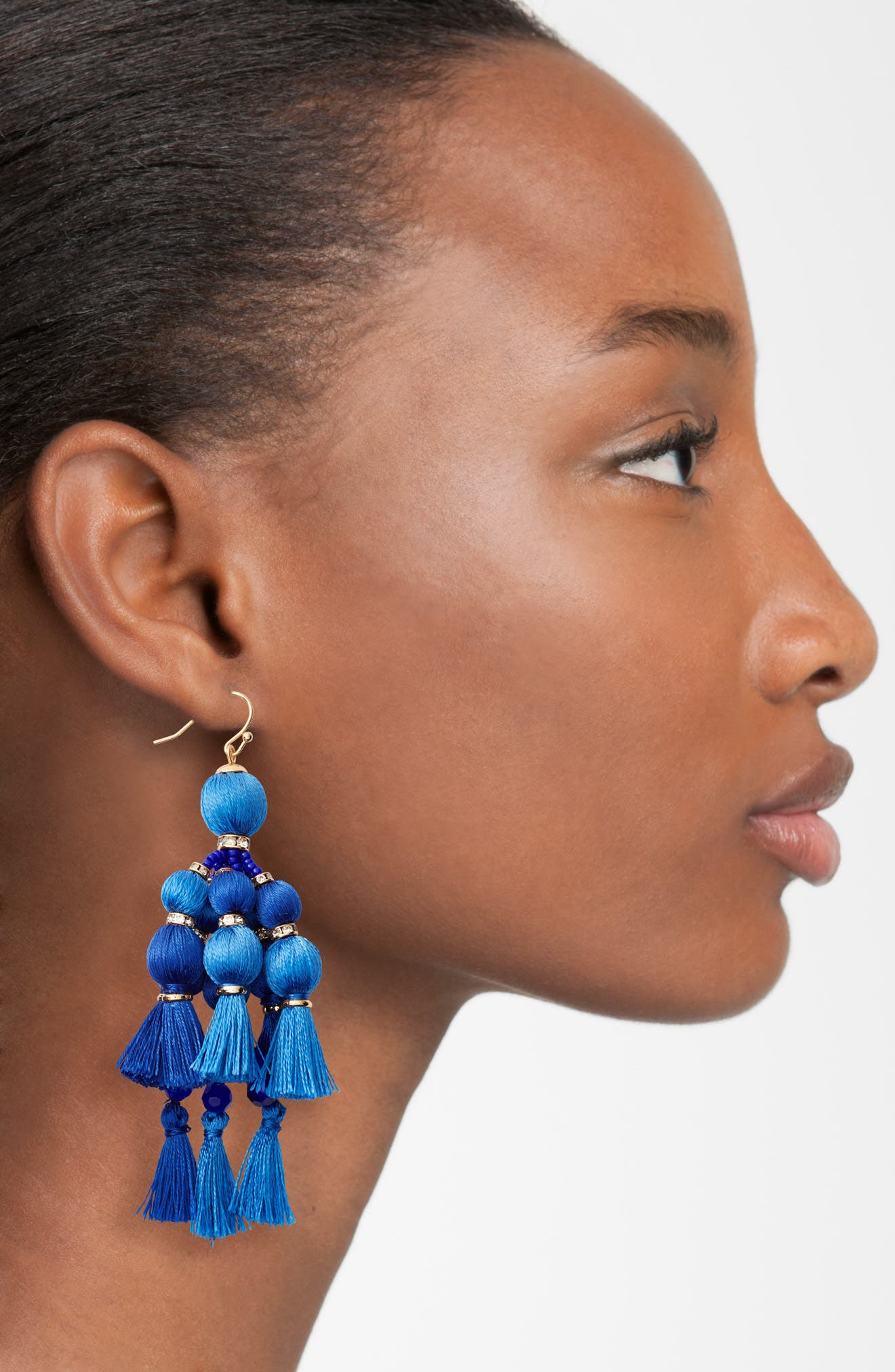 ,                             pretty pom tassel drop earrings,                             Alternate thumbnail 5, color,                             400