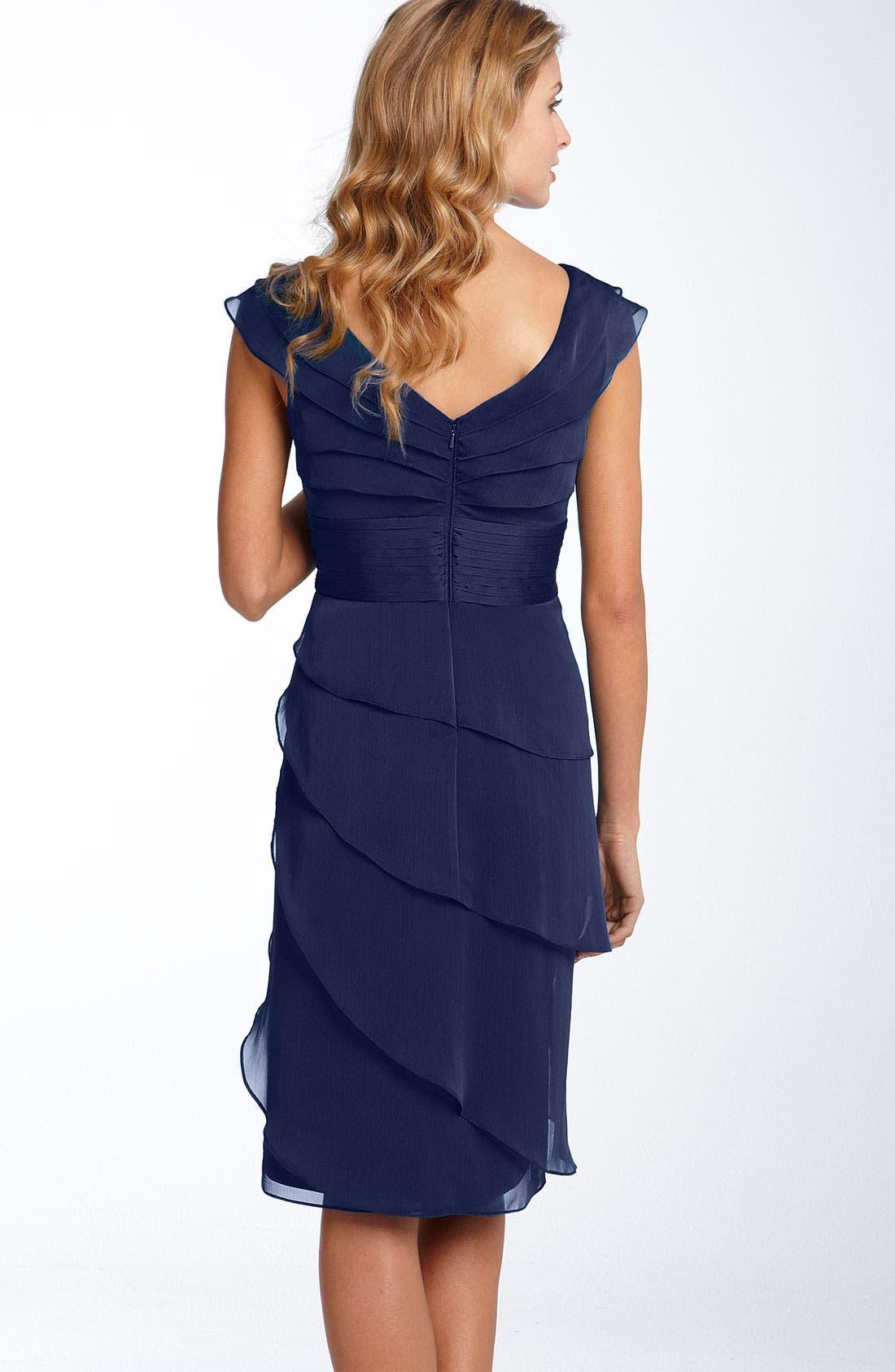 ,                             Tiered Chiffon Dress,                             Alternate thumbnail 10, color,                             401