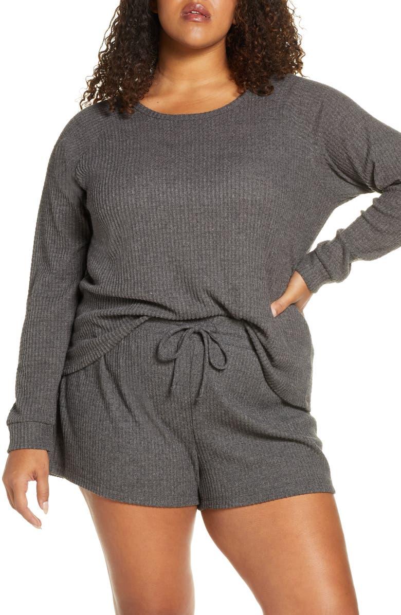 BP. Snuggle Up Thermal Short Pajamas, Main, color, 021