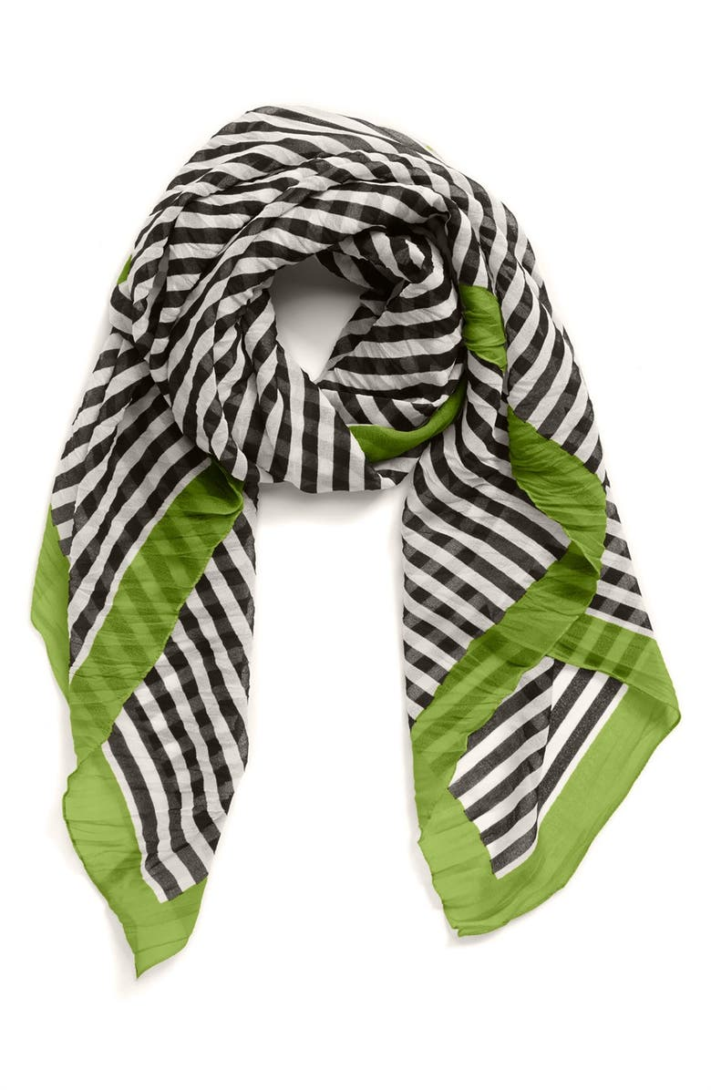 NORDSTROM Stripe Square Scarf, Main, color, 300