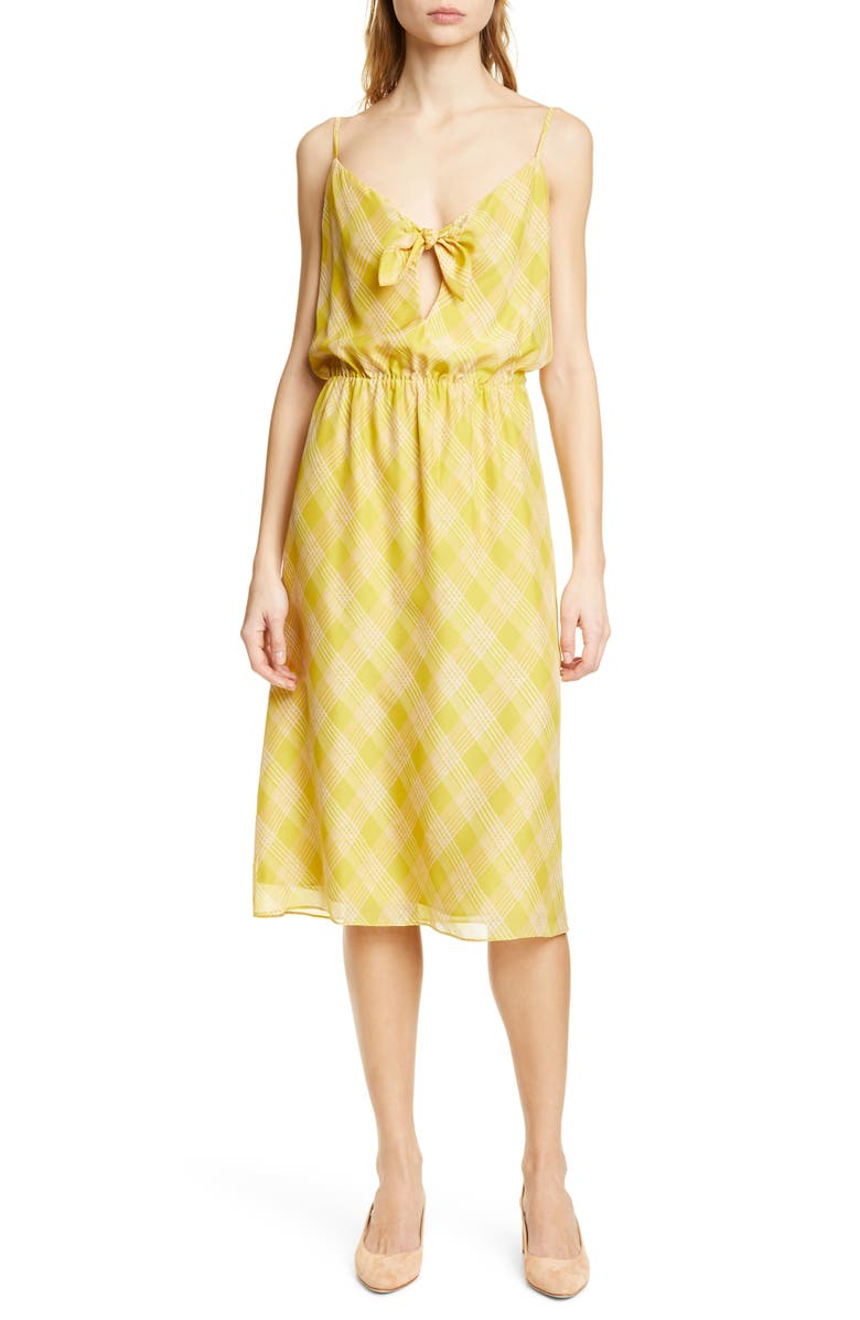 JOIE Abiah Front Tie Silk Dress, Main, color, 720