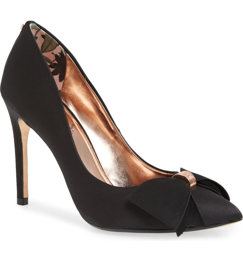 TED BAKER LONDON Asellys Pump, Main, color, BLACK SATIN