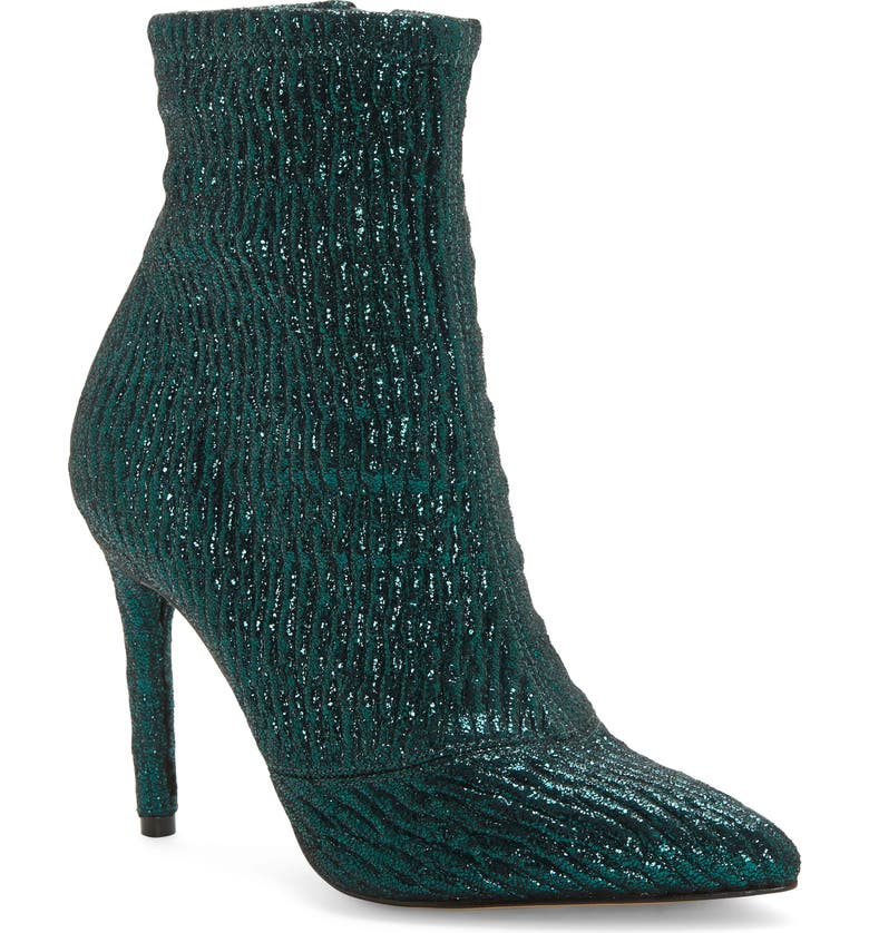 JESSICA SIMPSON Lailra Pointed Toe Stiletto Boot, Main, color, METALLIC GREEN LEATHER