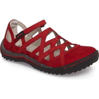 Jambu Tangerine Gladiator Sport Sandal, Red