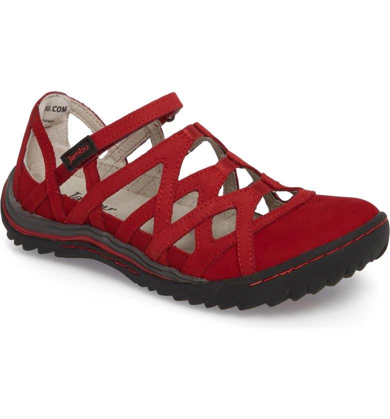 JAMBU Tangerine Gladiator Sport Sandal, Main, color, RED LEATHER