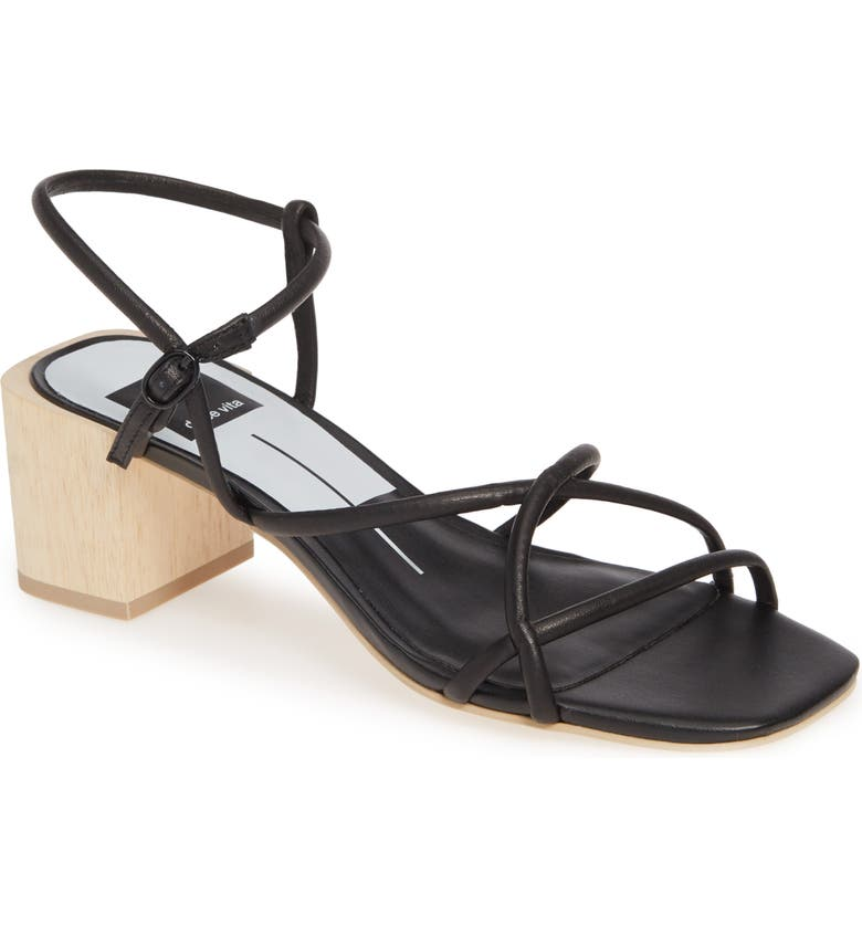 DOLCE VITA Zayla Block Heel Sandal, Main, color, BLACK LEATHER