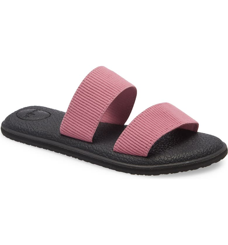 SANUK Yoga Gora Slide Sandal, Main, color, HEATHER ROSE