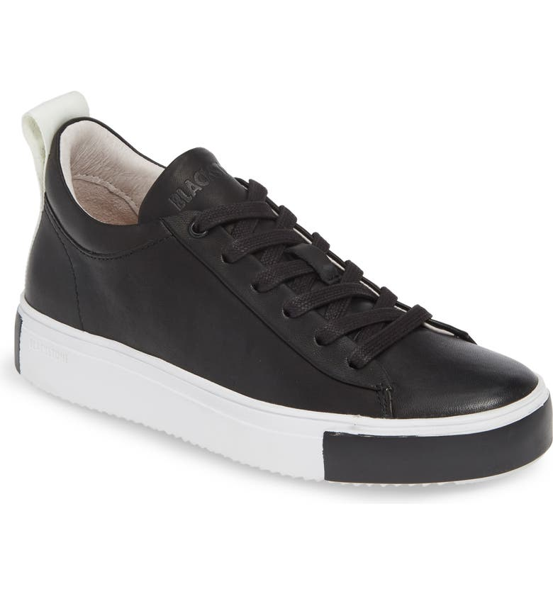 BLACKSTONE RL65 Mid Top Sneaker, Main, color, BLACK LEATHER
