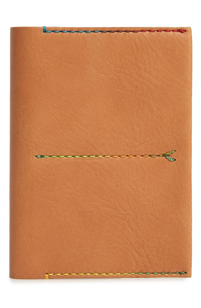 MADEWELL The Leather Passport Case, Main, color, DESERT CAMEL