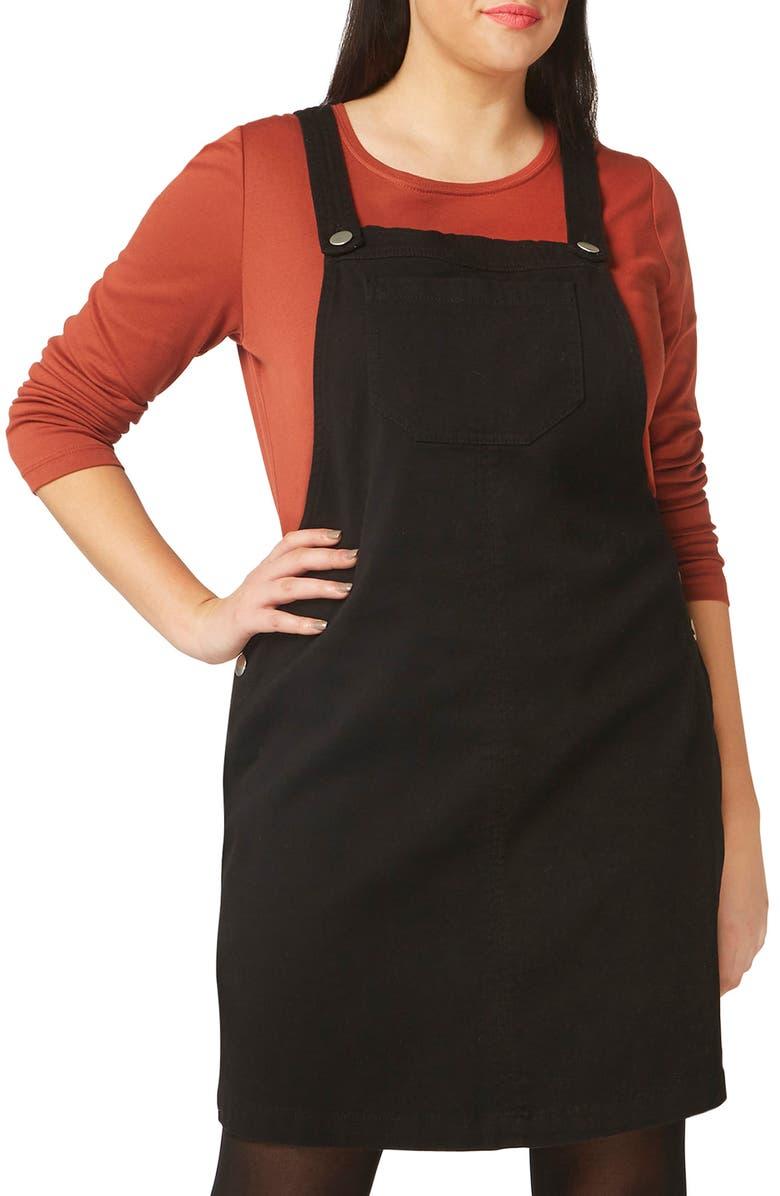 Evans Denim Pinafore Dress (Plus Size) | Nordstrom