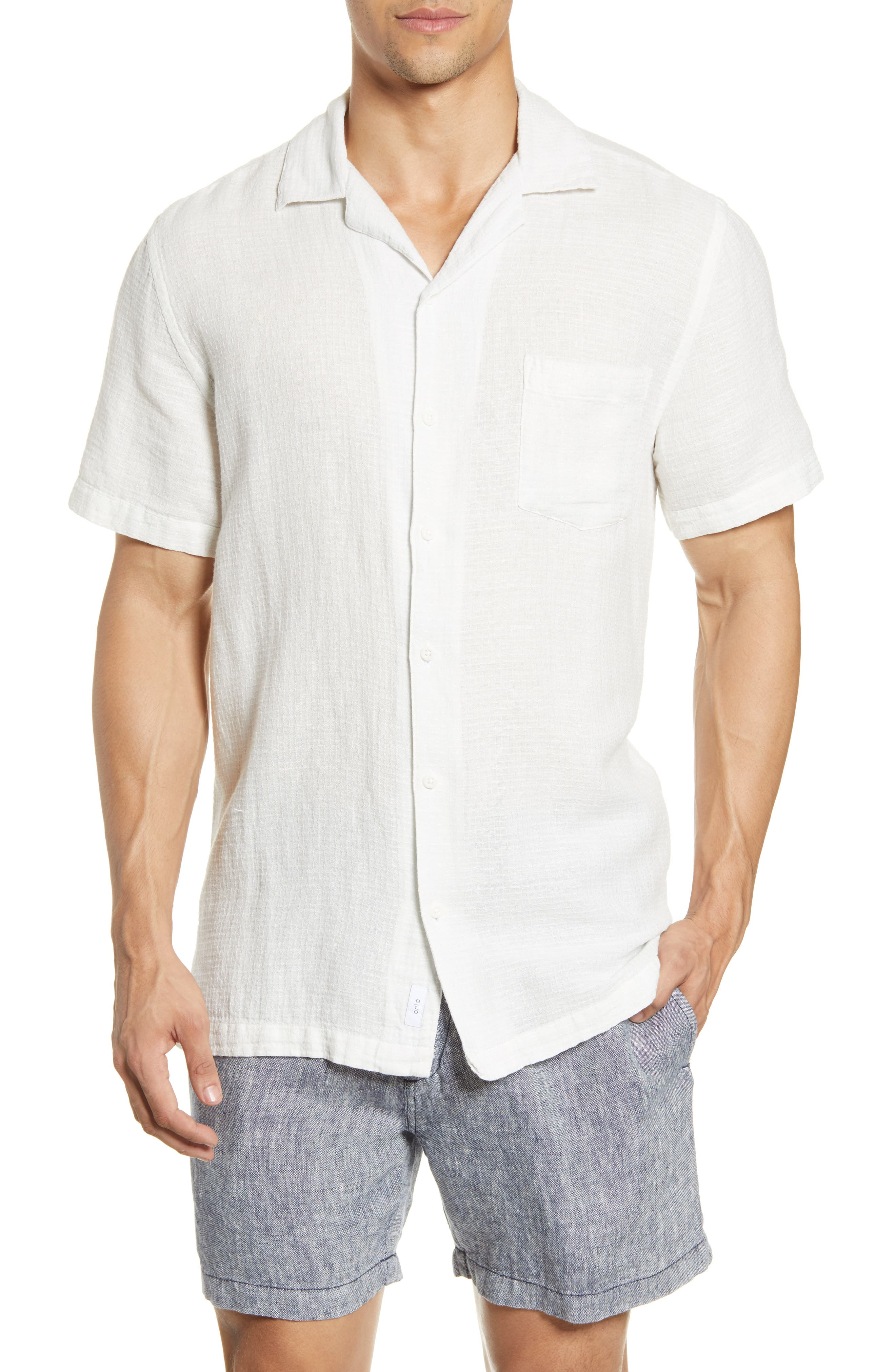 Onia Stretch Linen Shirt at Nordstrom Rack