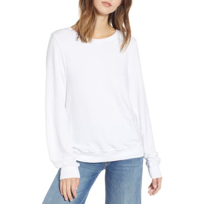 Wildfox Baggy Beach Jumper Pullover, White