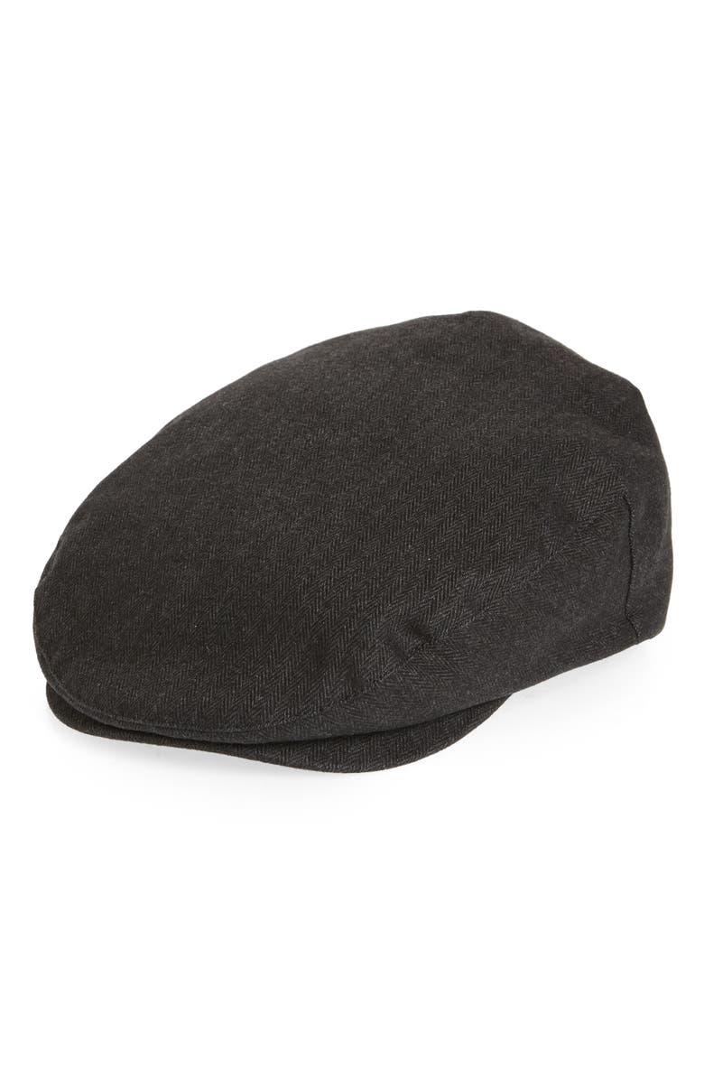 BRIXTON Hooligan III Driving Cap, Main, color, BLACK/ BLACK