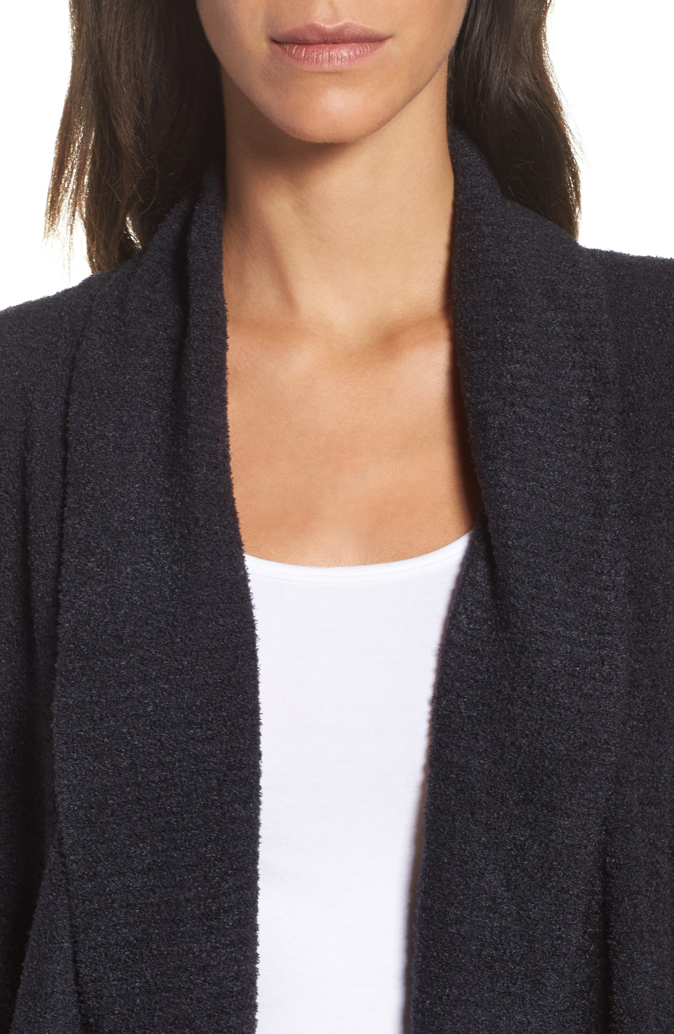 ,                             CozyChic Lite<sup>®</sup> Circle Cardigan,                             Alternate thumbnail 4, color,                             BLACK
