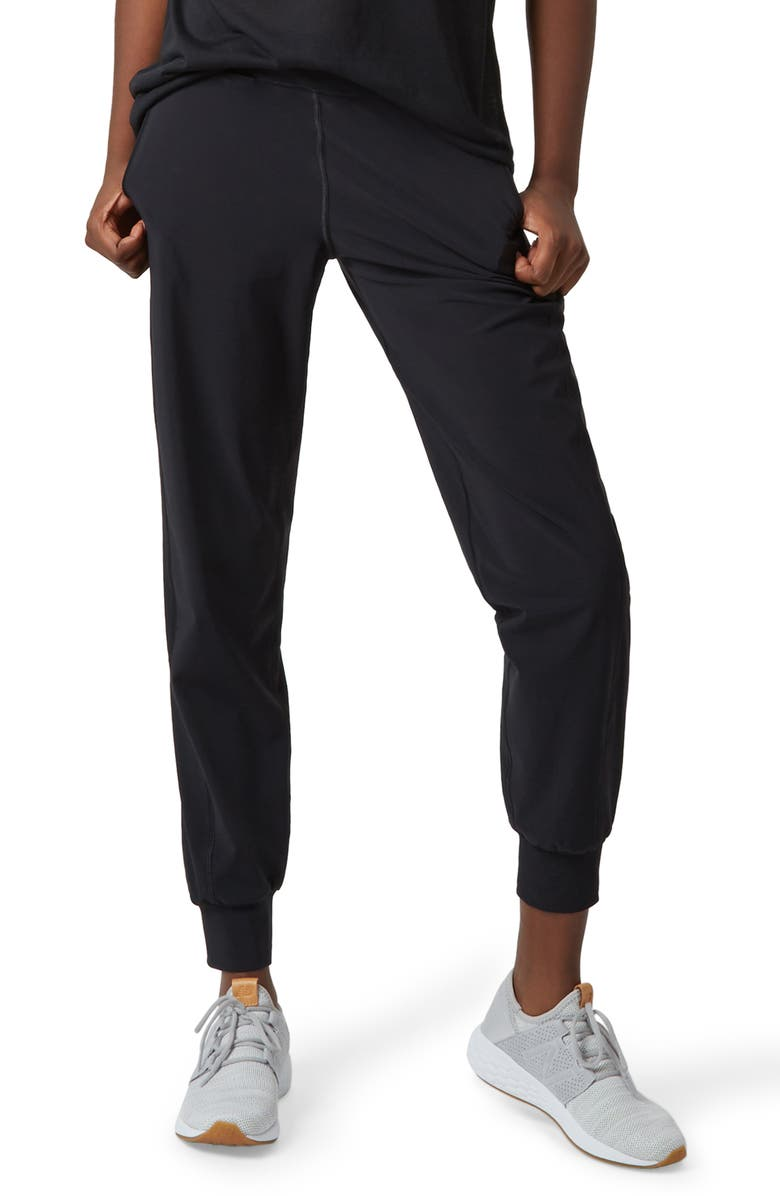 SWEATY BETTY Garudasana Yoga Trousers, Main, color, BLACK