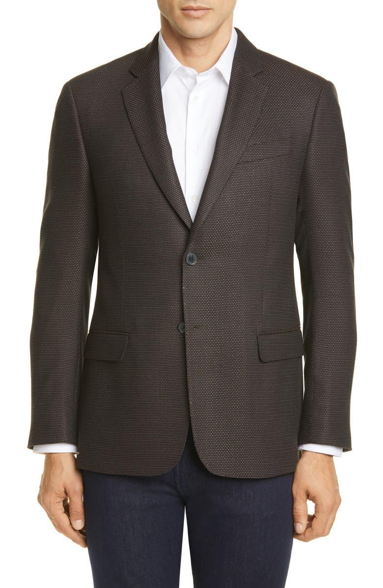 EMPORIO ARMANI Trim Fit Stretch Sport Coat, Main, color, 204