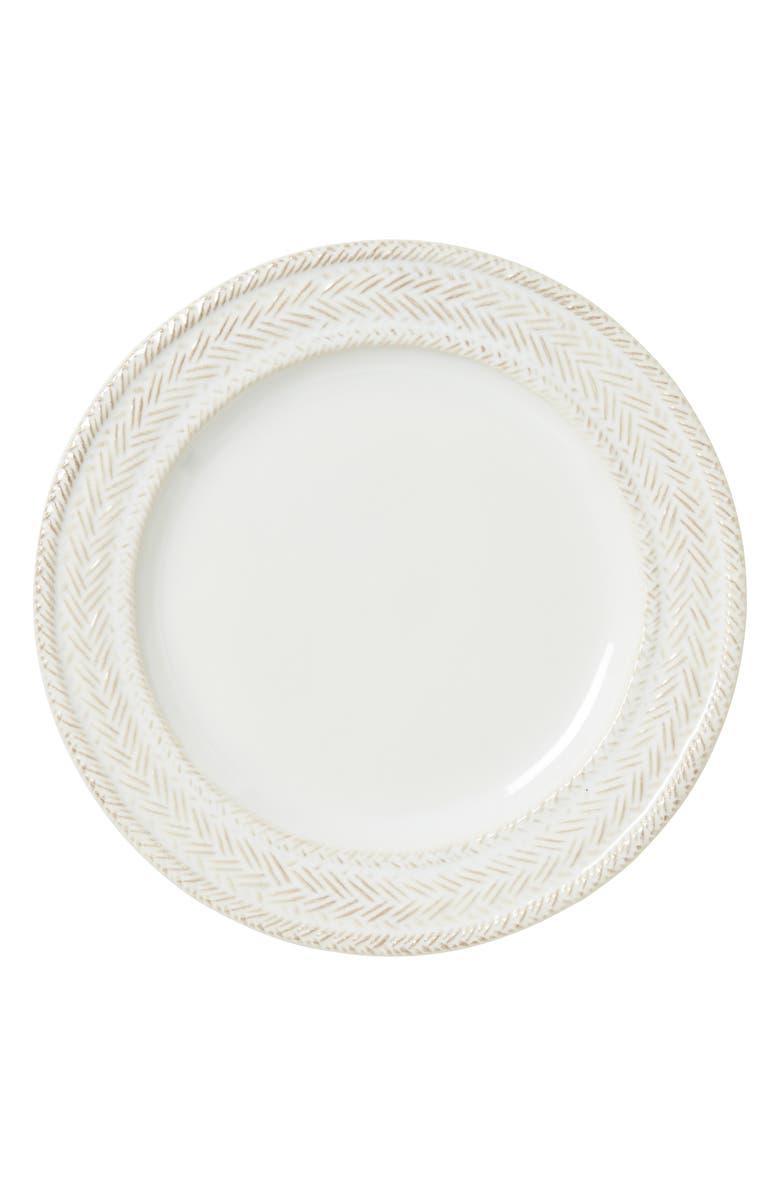 JULISKA Le Panier Ceramic Salad Plate, Main, color, WHITEWASH