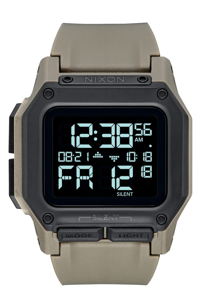NIXON Regulus Digital Watch, 46mm, Main, color, SAND/ BLACK/ SAND