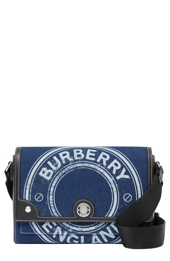 Burberry Crossbody bags MEDIUM NOTE LOGO PRINT DENIM CROSSBODY BAG