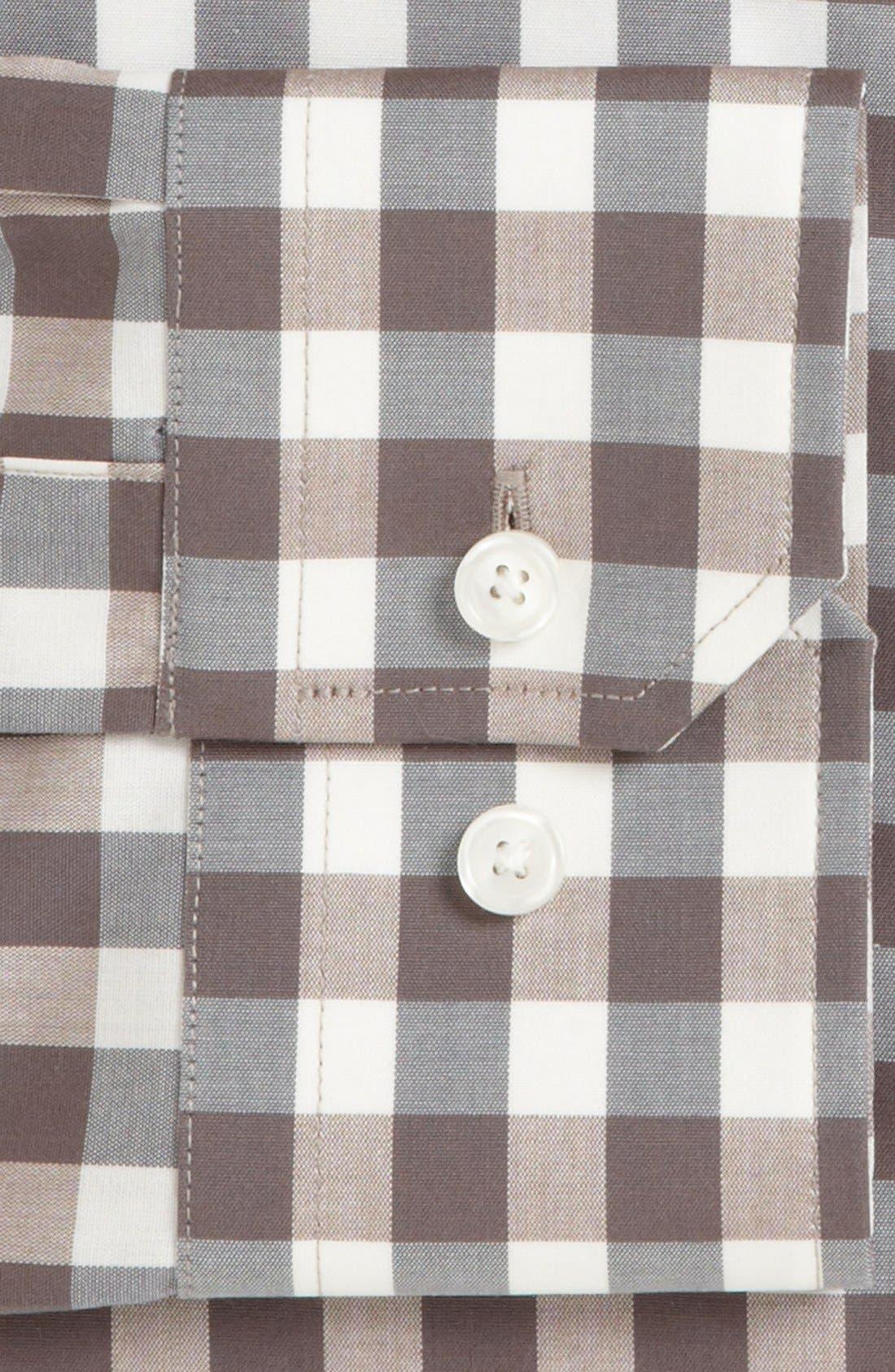 ,                             Slim Fit Non Iron Gingham Dress Shirt,                             Alternate thumbnail 6, color,                             260