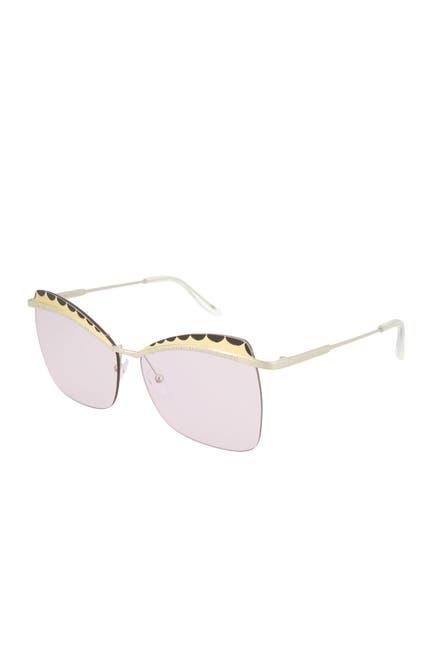 Image of Alexander McQueen 60mm Cat Eye Sunglasses