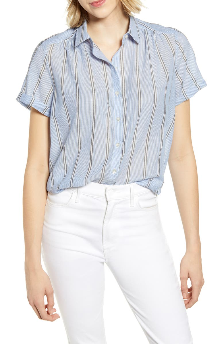 LUCKY BRAND Woven Shirt, Main, color, 460