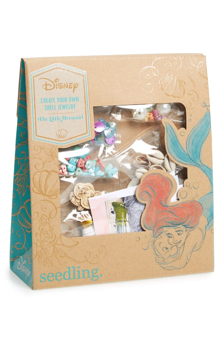 Seedling Disney The Little Mermaid Create Your Own Shell Jewelry Craft Kit Nordstrom