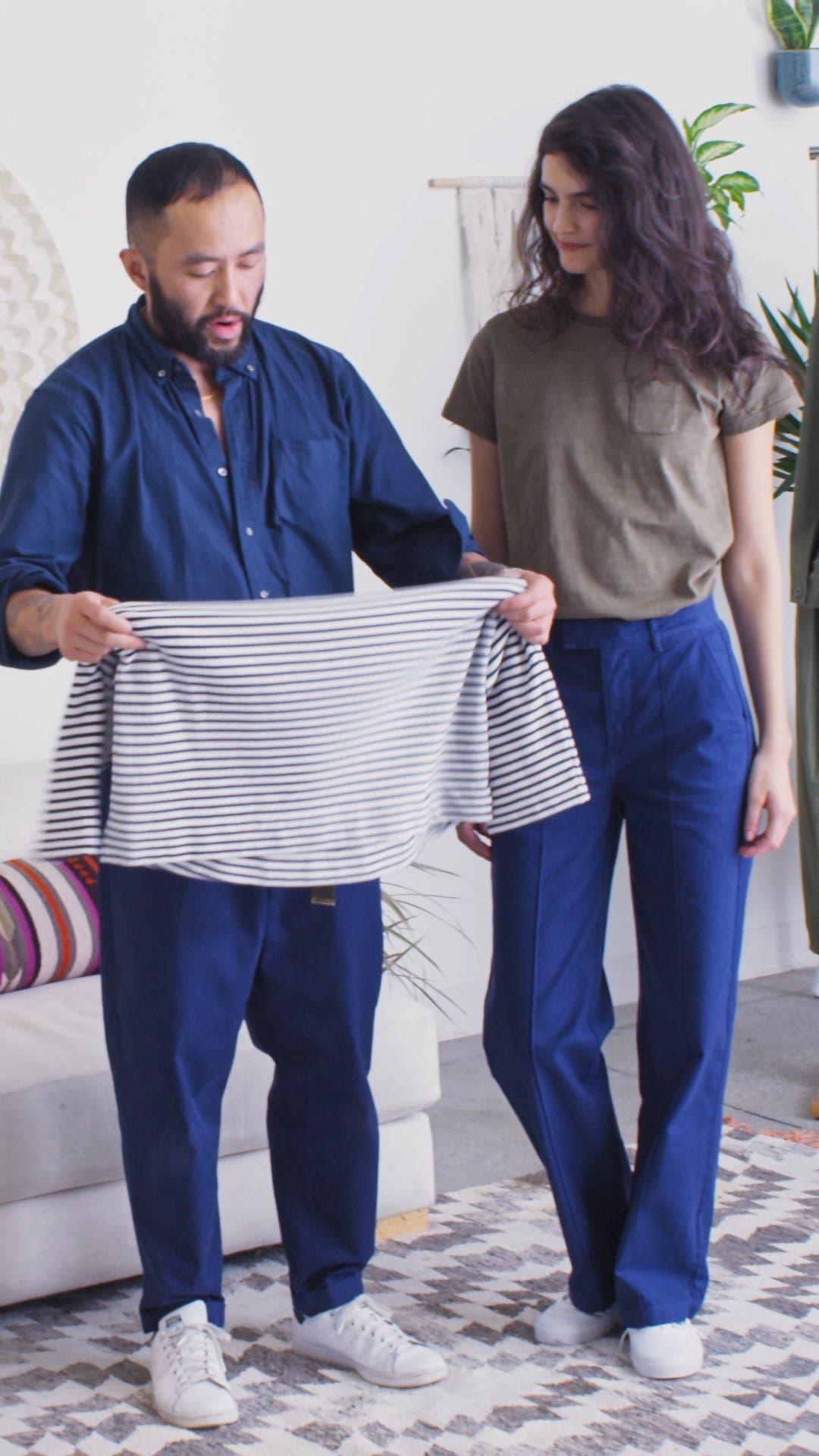 Stripe Boatneck Fleece Top, sales video thumbnail