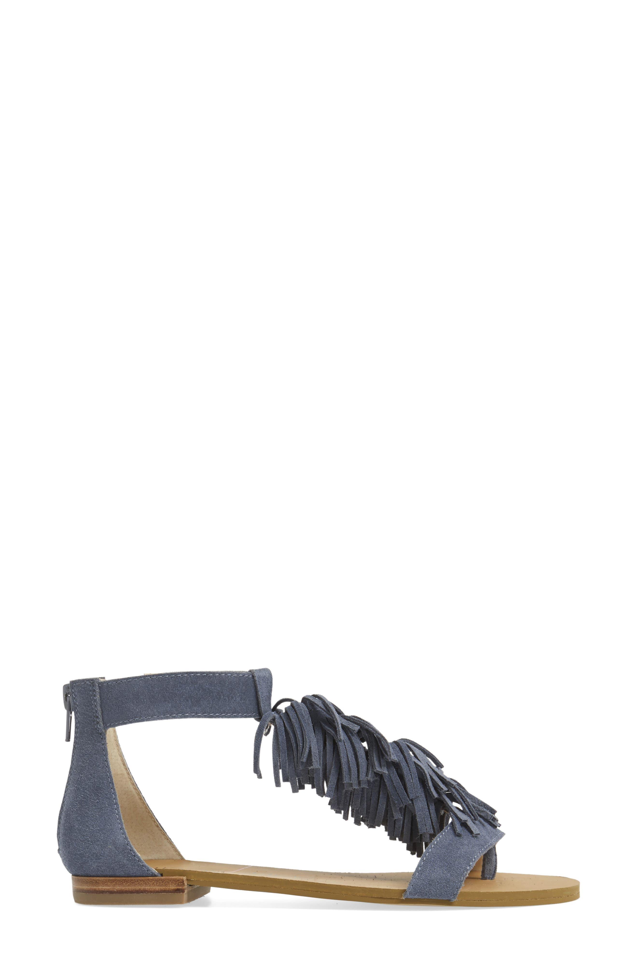,                             Koa Fringed T-Strap Sandal,                             Alternate thumbnail 15, color,                             450