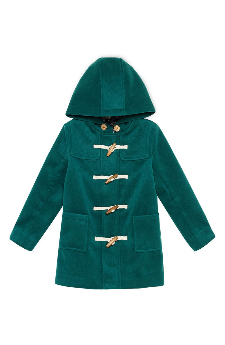 BARDOT Junior Brady Hooded Duffle Coat, Main, color, SYNCAMORE