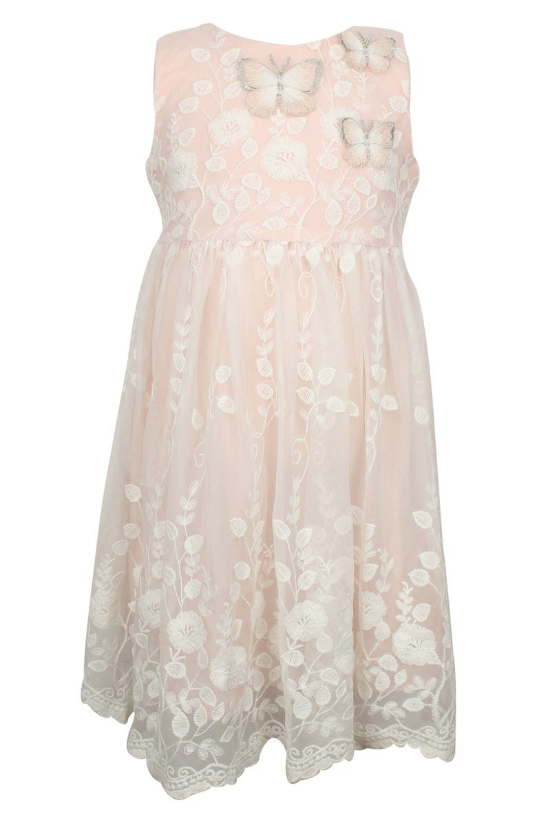 POPATU Lace Overlay Sleeveless Dress, Main, color, IVORY