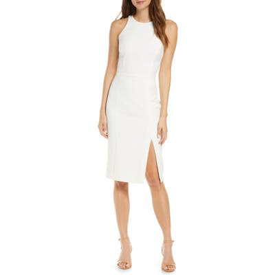Adelyn Rae Tay Sleeveless Cocktail Dress, White