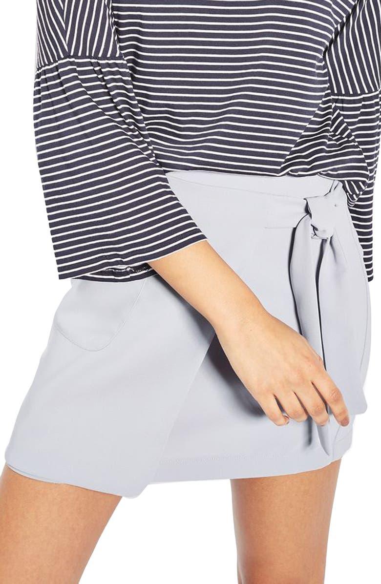 TOPSHOP Wrap Miniskirt, Main, color, 450