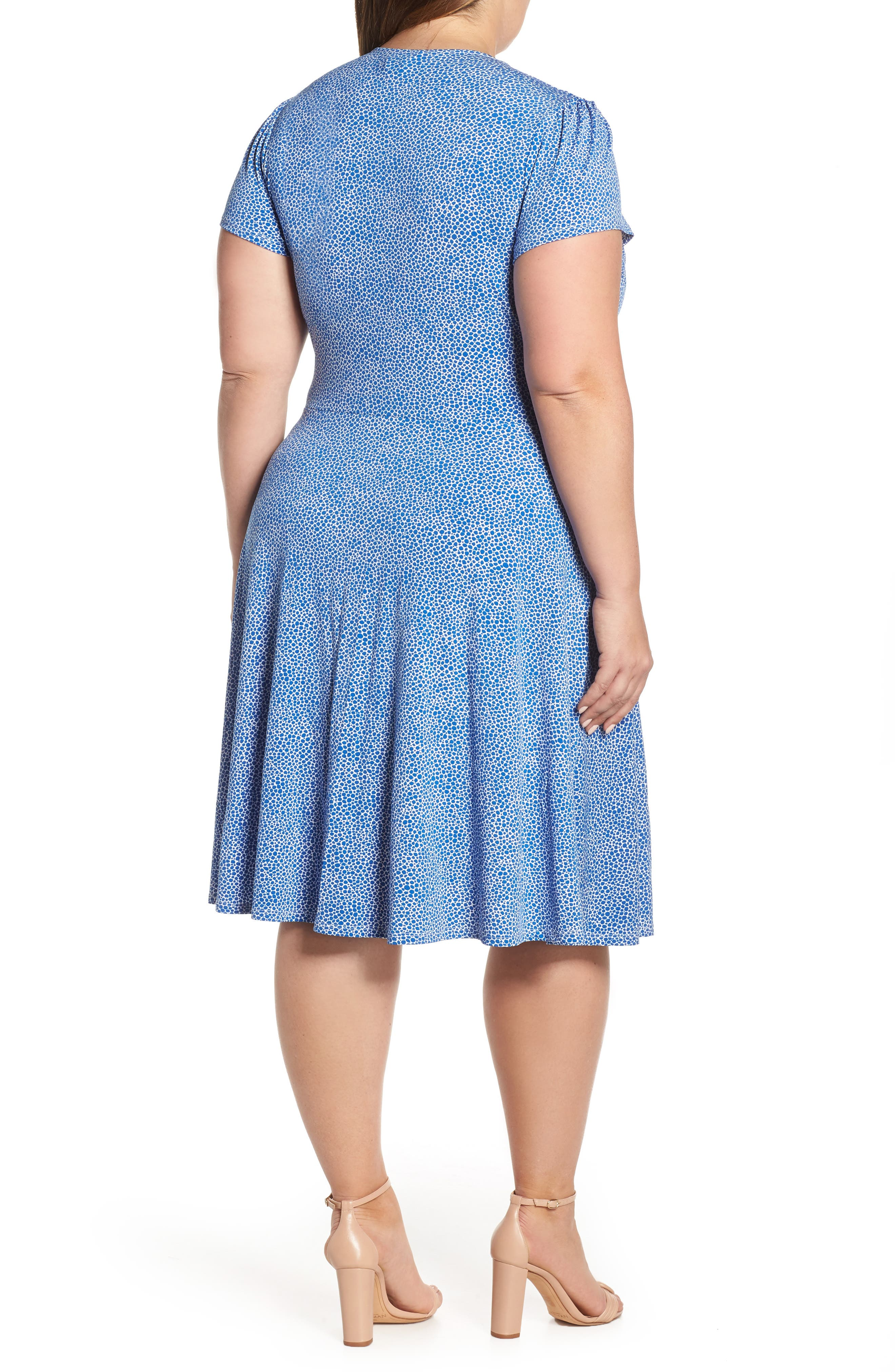 ,                             Faux Wrap Jersey Dress,                             Alternate thumbnail 2, color,                             NEBULAS BLUE