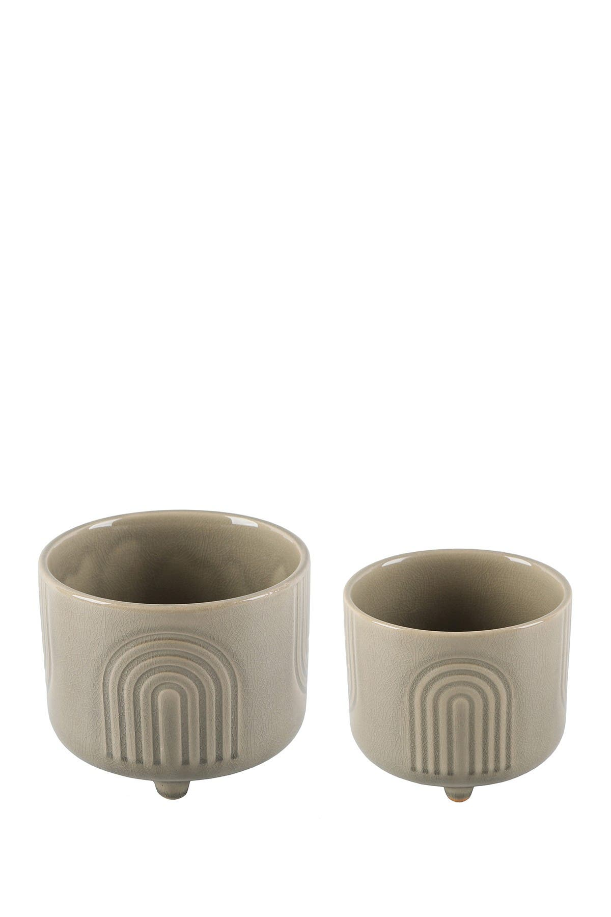 Image of FLORA BUNDA Rainbow Gray Ceramic Planters Set