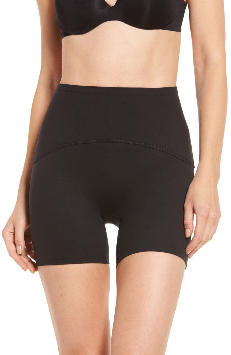 SPANX<SUP>®</SUP> Booty Boost Active 4-Inch Shorts, Main, color, 001