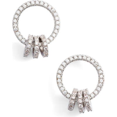 Nordstrom Open Circle Link Cubic Zirconia Earrings