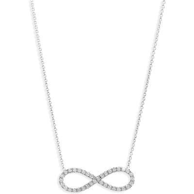 Robert Coin Diamond Infinity Pendant Necklace