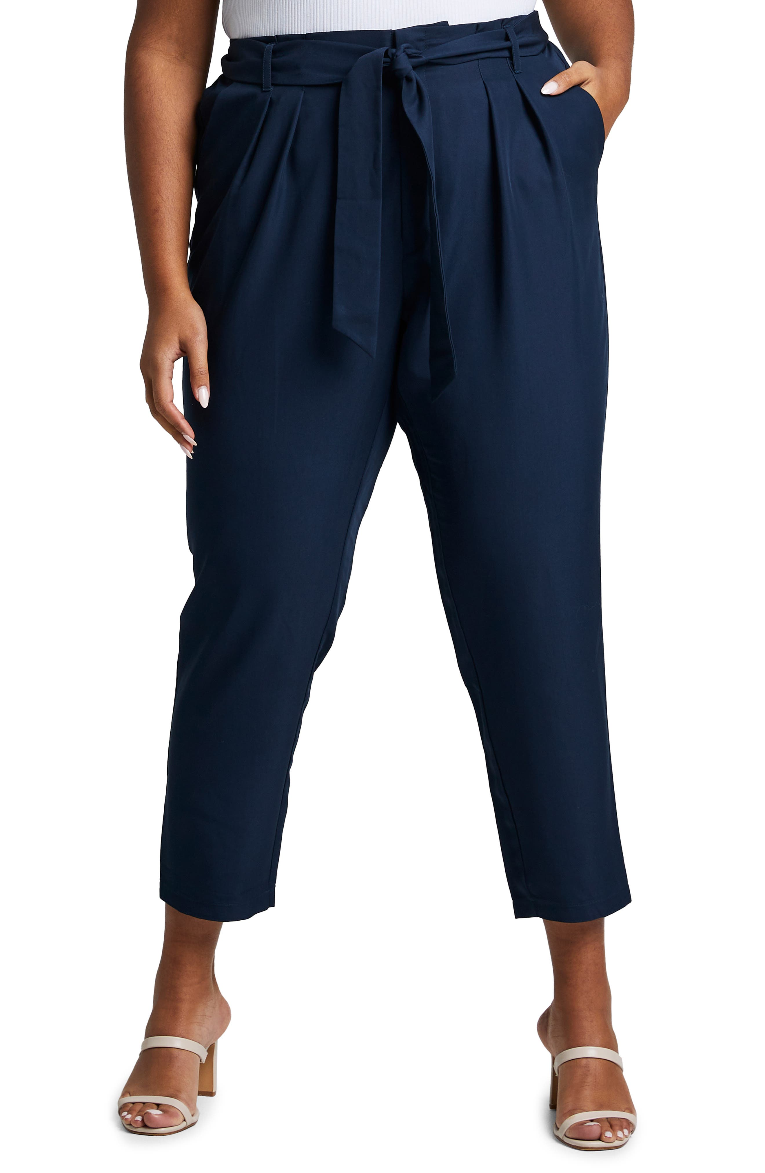 Woodstock Belted Ankle Pants