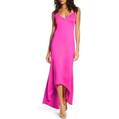 Black Halo Armelle High/low Gown, Pink