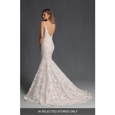 Hayley Paige Zazu Embroidered Mermaid Wedding Dress, Size - Ivory