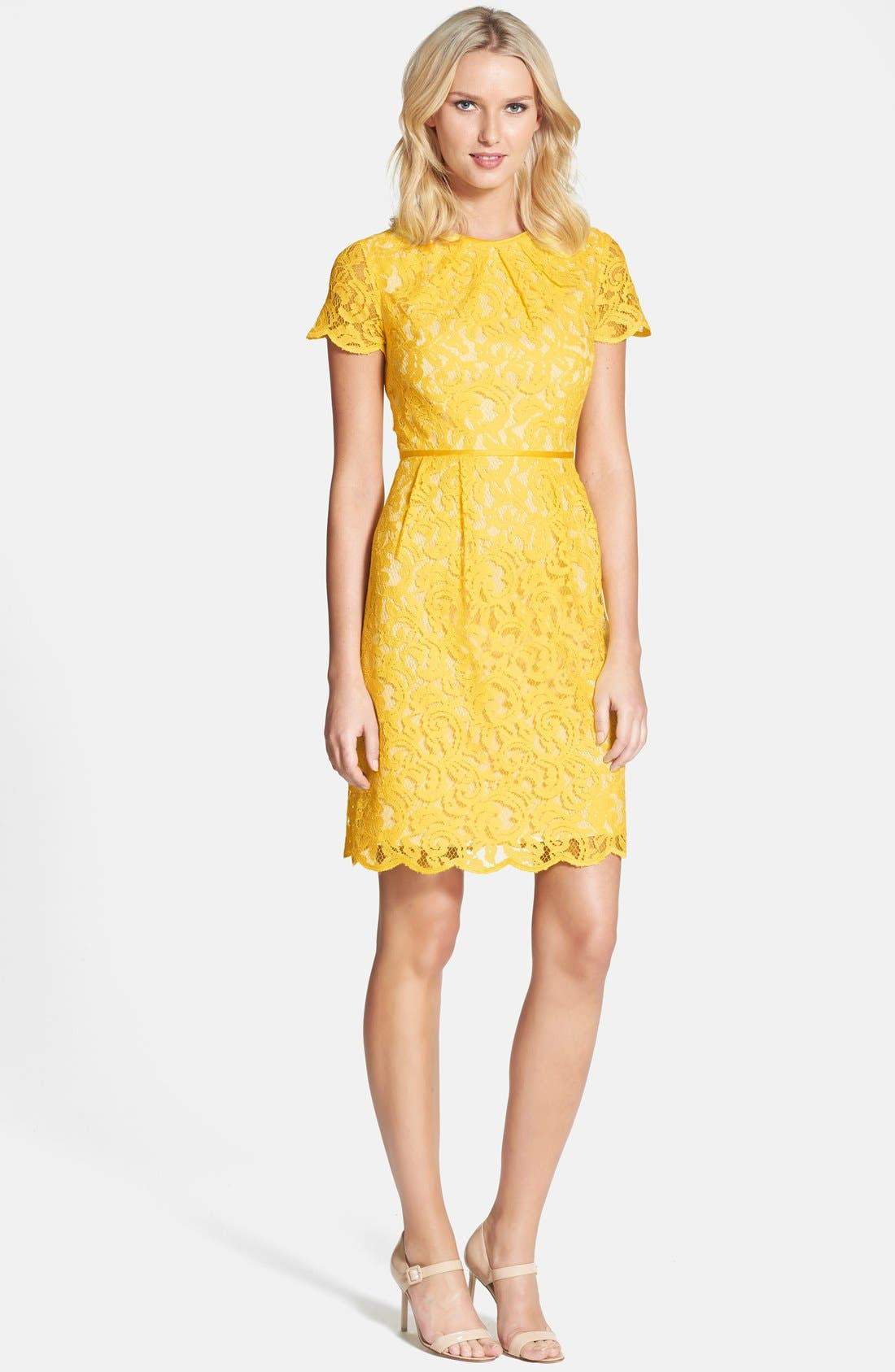 ,                             Scalloped Lace Dress,                             Alternate thumbnail 32, color,                             700