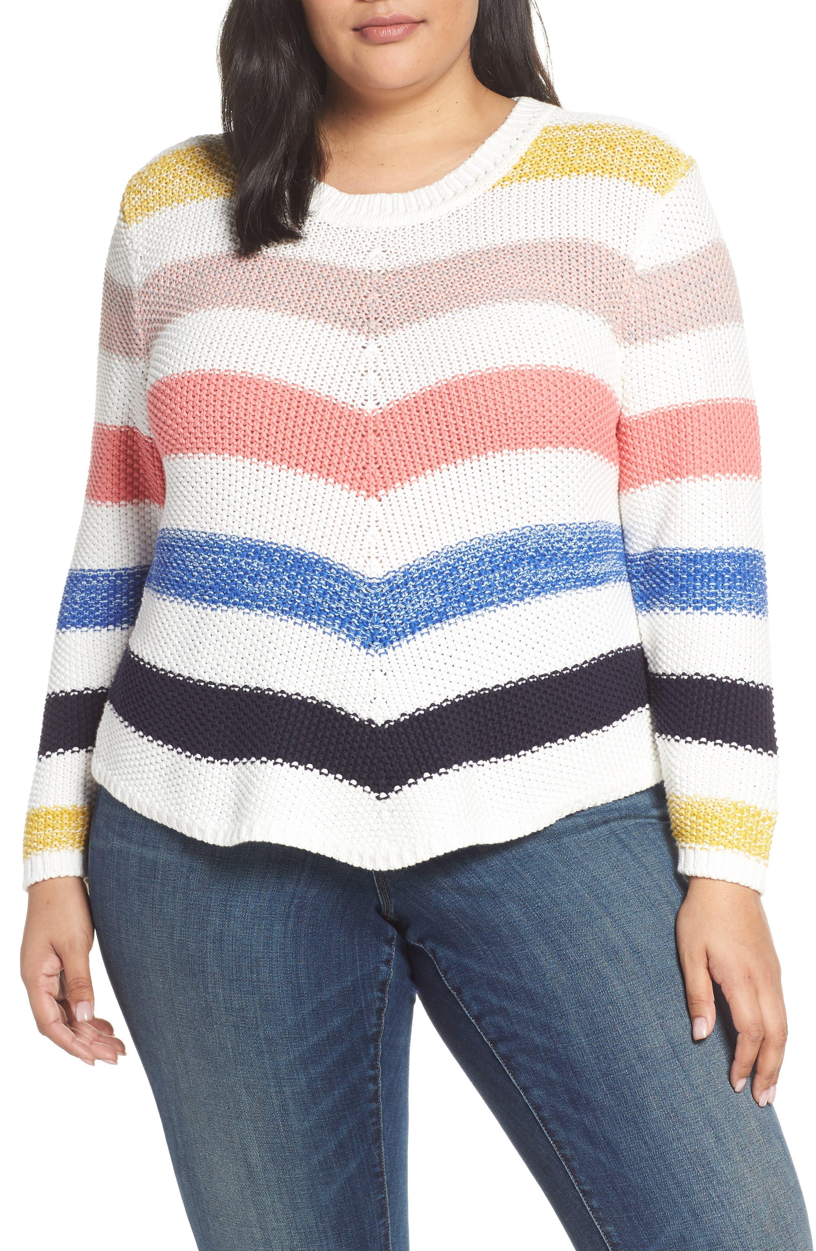 ,                             Stitch Stripe Sweater,                             Main thumbnail 7, color,                             901