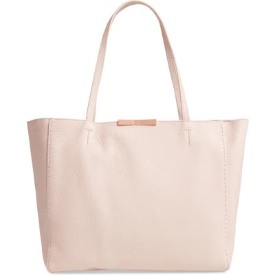 Ted Baker London Clarkia Faceted Bar Leather Shopper - Pink