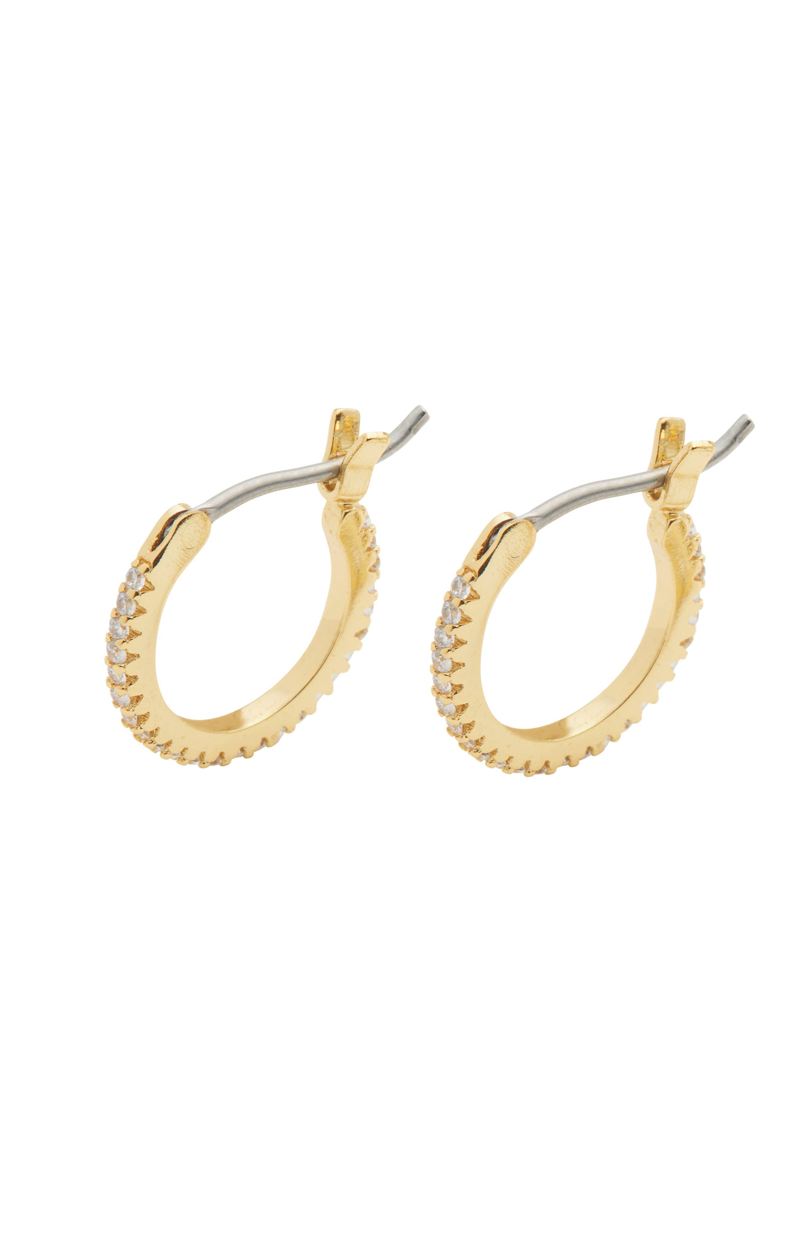 Shimmer Huggie Hoop Earrings
